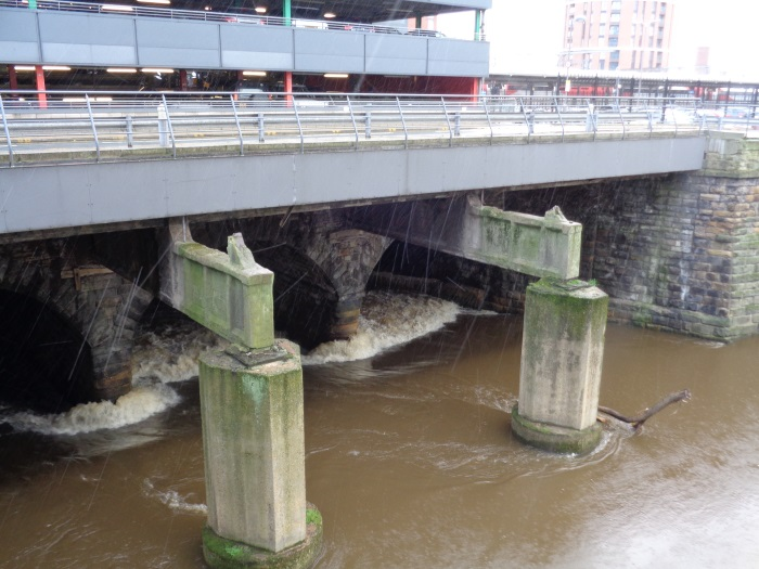 The River Aire about to run under Leeds Station (taken Nov 19 2015).