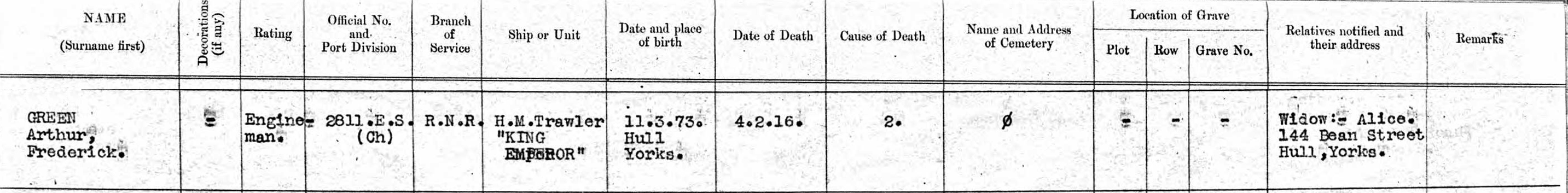 Arthur Fredrick Green death record 1916 - cropped.jpg